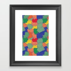 Floral Chaos Framed Art Print