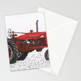 Farmall Super M, International Harvester Tractor Drawing Stationery Cards