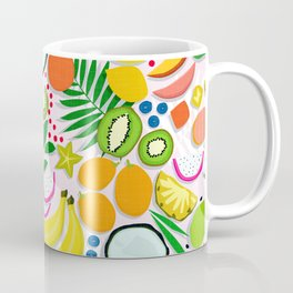 Fresh Fruits and Palms / Colorful Foods and Leaves Coffee Mug