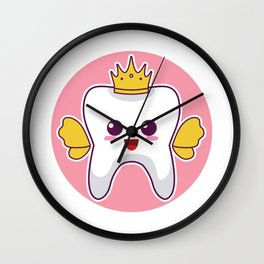 Tooth Fairy Costume Cute Gift for litte Tooth Fairy Fans design Wall Clock