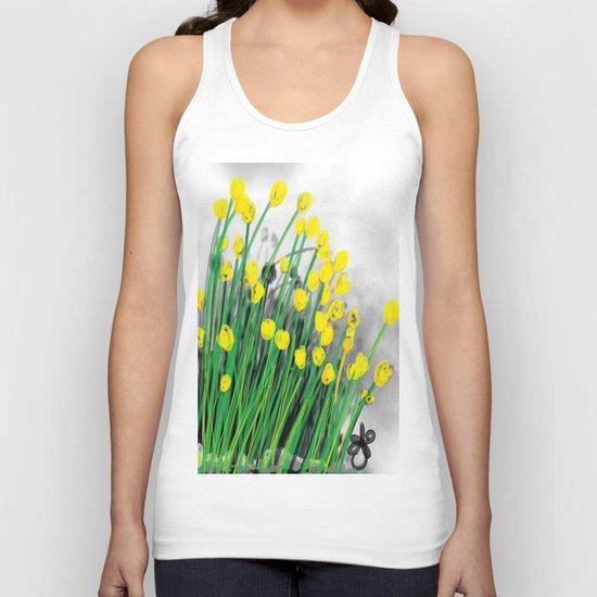Yellow Flowers! Unisex Tank Top
