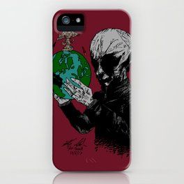 Aril Observes Our World - For Print iPhone Case
