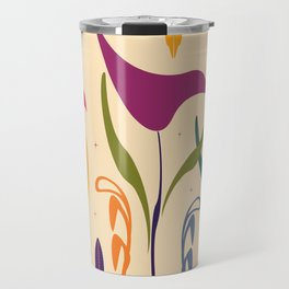 Bright Tropical Vibe Floral Travel Mug