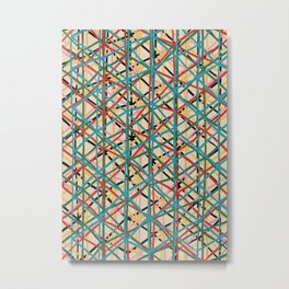 Abstract Contemporary Print 074 -mid century print, geometric retro, abstract wall art, abstract vin Metal Print