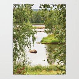 Riverside Kemijoki Finland Poster