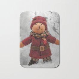 Christmas teddy Bath Mat