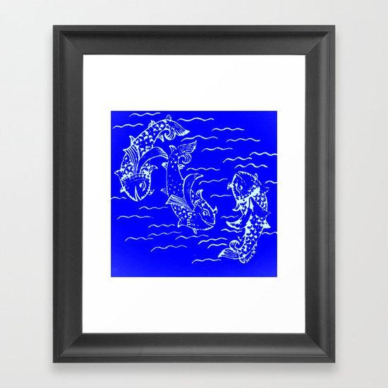 Happy fish- 3 Framed Art Print