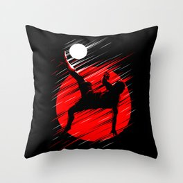 Soccer Red Lines Throw Pillow