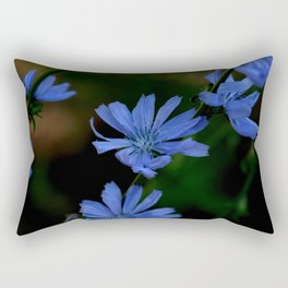 Eyes as blue as chicory blooms Rectangular Pillow