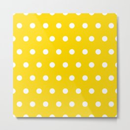 Dots on gold color Metal Print