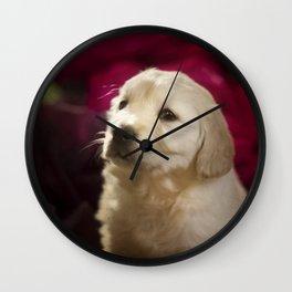 Cute labrador puppy Wall Clock
