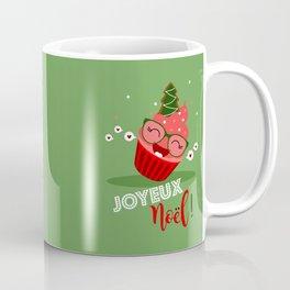 Cupcake de Noël (vert pastel) Coffee Mug