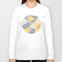 yellow pattern Long Sleeve T-shirts featuring Pattern, grey - yellow by Lindella