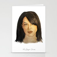 aaliyah Stationery Cards featuring Aaliyah by Nina Bryant Studio