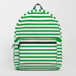 Green Candy Stripes Backpack