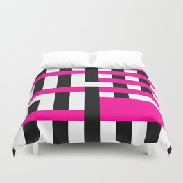 Licorice Bytes, No.18 in Black and Pink Duvet Cover
