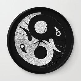 Ebony and Ivory (Inverse) Wall Clock