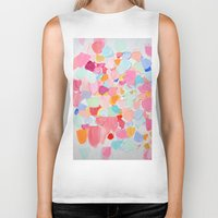 confetti Biker Tanks featuring Amoebic Confetti by Ann Marie Coolick