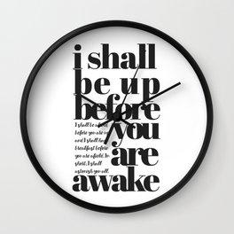 I shall be- Thomas Hardy Book Quote Print Wall Art | Minimalist Print | Inspirational Quote Print Wall Clock