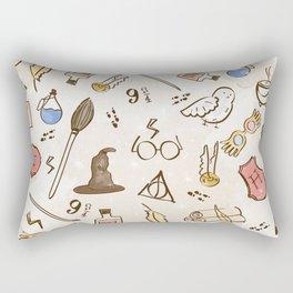 Wizarding Pattern Rectangular Pillow