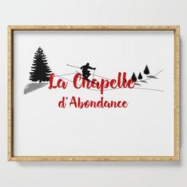 Ski at La Chapelle d'Abondance Serving Tray