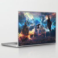 aang Laptop & iPad Skins featuring Avatar: The Last Airbender - Aang @ Avatar State - Fan Art by Kenwoodh