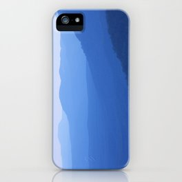 Layers of mountains at dusk, Blue Mountains, NSW, Australia iPhone Case