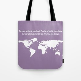 World Map with Dr. Seuss Quote Tote Bag