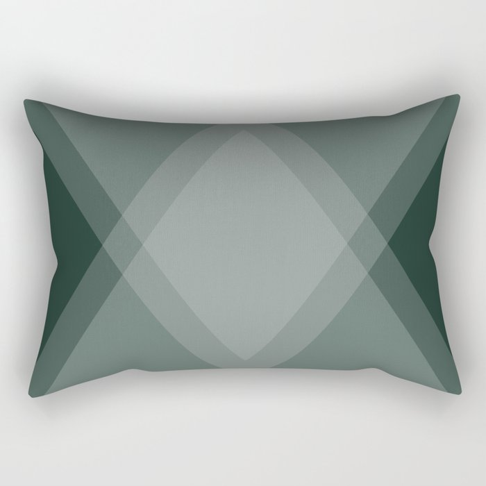 Emerald Green Diamond Argyle Rectangular Pillow