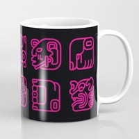 writing Mugs featuring Maya Writing System by Stop::mashina ~Runes