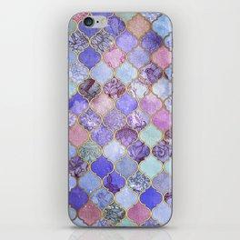 Royal Purple, Mauve & Indigo Decorative Moroccan Tile Pattern iPhone Skin