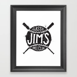 Classic Jim's Ball Club - Tshirt Framed Art Print