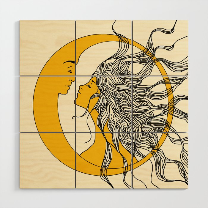 Sun and Moon Wood Wall Art by nadja1 | Society6