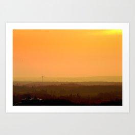 Sunrise Hills Art Print