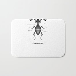 "Mechanical Mistake series "" Ultrasonic Mantis"" Bath Mat"