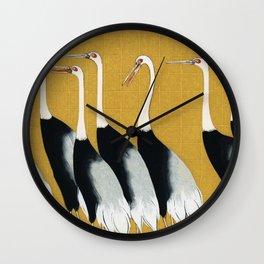 Vintage Japanese Crane Wall Clock