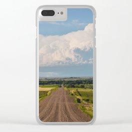 Summer Roads, Glasgow, Montana 5 Clear iPhone Case