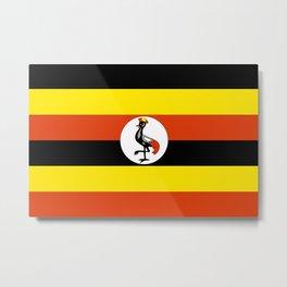Flag of Uganda Metal Print