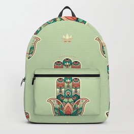 Hamsa Hand Pattern Backpack