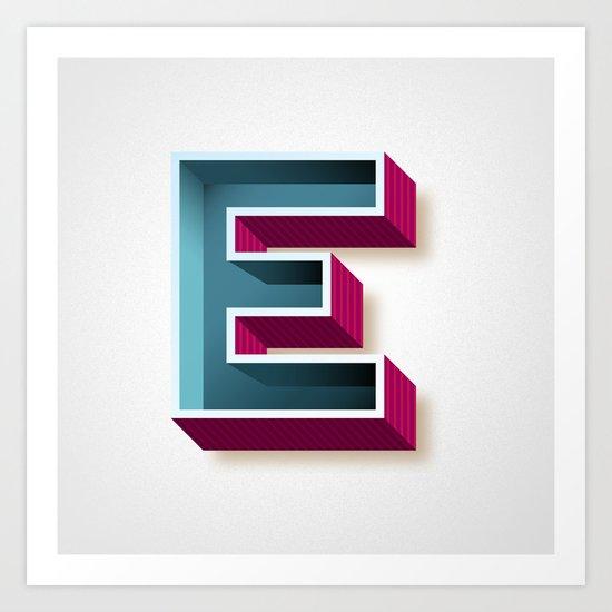 The Letter E Art Print