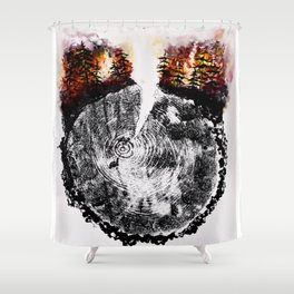 Burning Forest Shower Curtain