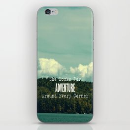 She Looks for Adventure  iPhone Skin