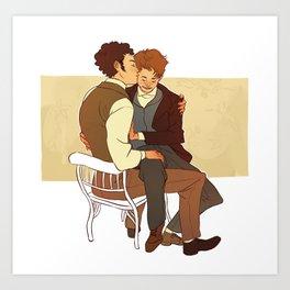 Courfeyrac/Marius Art Print
