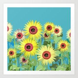 A sunny day Art Print