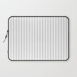 White Black Pinstripes Minimalist Laptop Sleeve