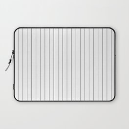 White And Black Pinstripes Lines Stripes Minimalist Stripe Line Laptop Sleeve