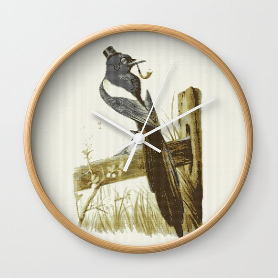 Morning Mr Magpie Wall Clock