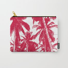 Palm Trees Design in Red and White Carry-All Pouch