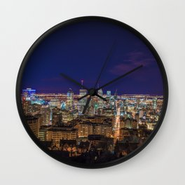 Montreal Nightlights Wall Clock