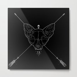 Black Lucky 13 Metal Print